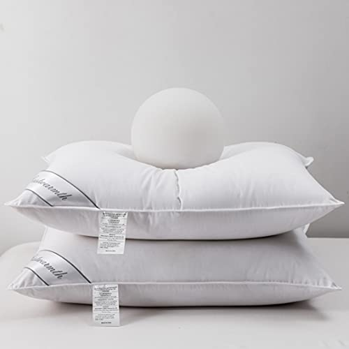 Natural Goose Down&Feather Pair Hotel Pillows...