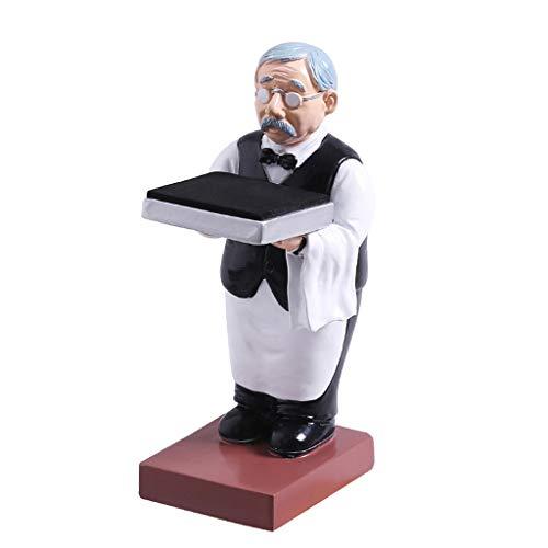 Yushu Old Butler Man Uhrenständer Old Man Ringständer Brillenhalter Uhr Aufbewahrung Tisch Aufbewahrung Etui für Ringe, Ohrringe, Halsketten Geschenk für Mädchen Mutter Frauen