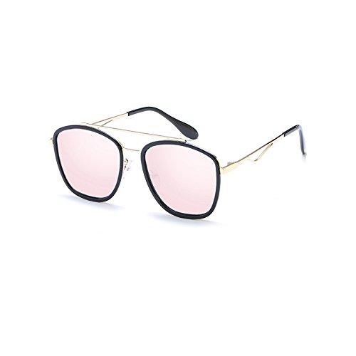 LLZTYJ zonnebril/wind/schaduw/strand/outdoor/verjaardag/geschenk/Valentijnsdag/dames/zonnebril/damesbril/ronde gezichtzonnebril, blackbox poeder kwik (tas + doek)
