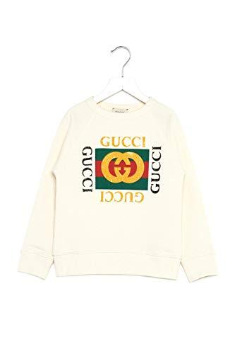 Gucci Luxury Fashion Junge 483878X3G979112 Weiss Baumwolle Sweatshirt | Jahreszeit Permanent