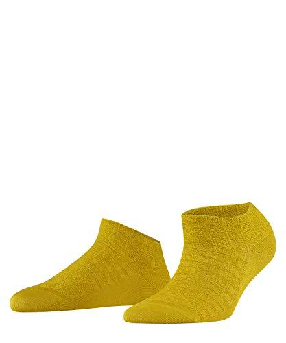 FALKE Damen Sneakersocken Focus Room, Baumwollmischung, 1 Paar, Gelb (Deep Yellow 1007), Größe: 41-42