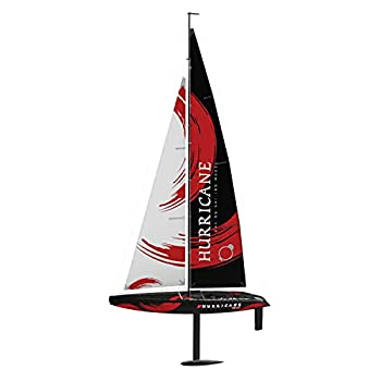 VOLANTEXRC Remote Control Sailboat RC Sailing Boat Hurricane 1-Meter 2.4Ghz 2-Channel Ready to Run  RTR  RG65 Class Competition RC Sailboat Wind Power RC Boat RTR for Beginners Adults  791-2