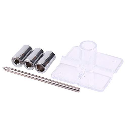 Akozon Boor Guide Kit 6/8/10 mm houtbewerking boorgeleider set met positioneerder Locator Tool Boorstop kraag en bussen Joinery Dowel Jig Kit voor het boren schuine gat