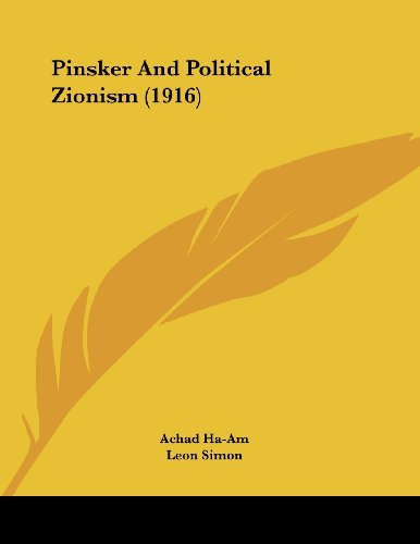 Pinsker And Political Zionism