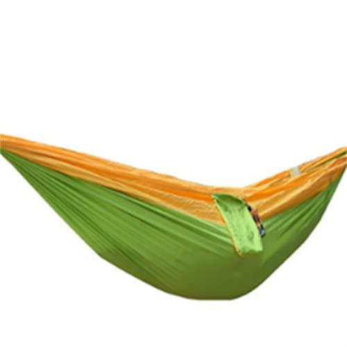 FACWAWF Camping Al Aire Libre Sábana Colgante Persona Dormitorio Columpio Ocio Paracaídas Hamaca De Tela 270x140cm