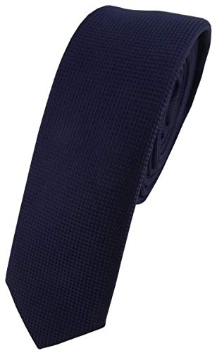 TigerTie - corbata estrecha - marina azul oscuro lunares
