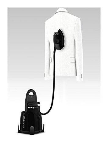 Laurastar Lift Plus Ultimate Black, Centrale Vapeur Nomade 3en1, Repasse, Défroisse et Purifie Vos Textiles, Vapeur Hygiénique, Design, Réservoir Amovible, Repassage Vertical, Enrouleur Automatique, Semelle 3D, Noir