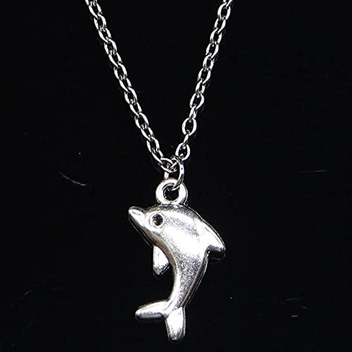 ZOJK Collar 23X13Mm Encantadores Colgantes De Delfines Cortos Largos Mujeres Hombres Colar Gargantilla Regalo De La Joyería