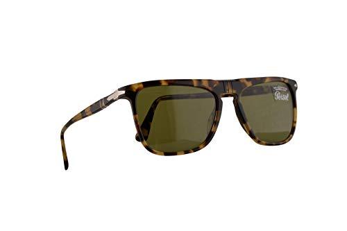 Persol 3225-S Sonnenbrille Braunen Beige Mit Grünen Gläsern 56mm 10564E PO 3225S PO3225S PO3225-S