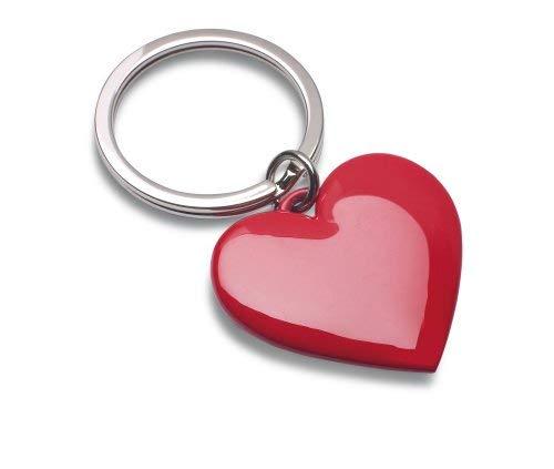 REFLECTS Schlüsselanhänger aus Metall, herzförmiger Korpus für Valentinstage und Hochzeitsversprechen ALMERE Rot