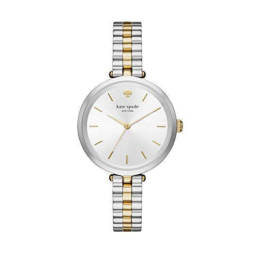 Kate Spade New York Women's Holland Quartz Stainless Steel Three-Hand Dress Watch, Color: Silver/Gold (Model: KSW1119)
