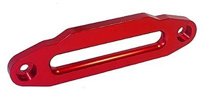 """RANGER ULTRANGER 10"""" (254MM) Mount Heavy Duty Aluminum Hawse Fairlead for 8000-20000 LBs Winch Glossy (Red)"""