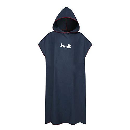 MVPACKEEY - Asciugamano da surf, con cappuccio, ad asciugatura rapida, per donne e adulti, morbido (blu navy)
