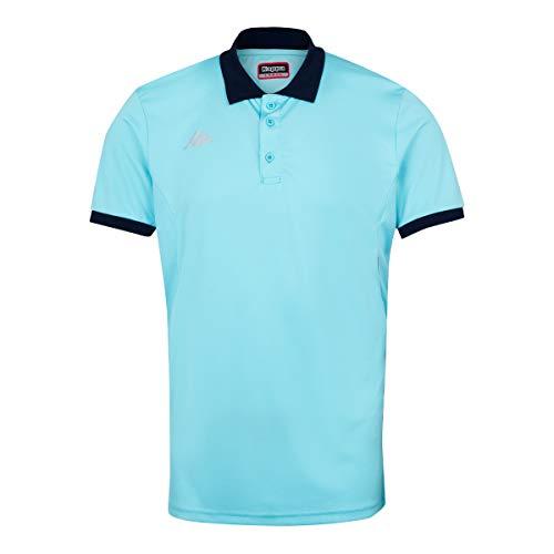 Kappa Faedis Polo Tenis, Hombre, Azul Cielo, 2XL