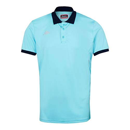 Kappa Faedis Polo Tenis, Hombre, Azul Cielo, M