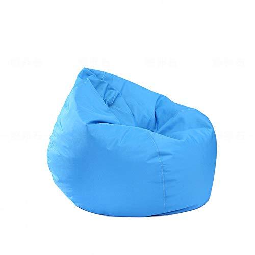 Pouf per bambini e adulti, impermeabile, per interni ed esterni, con cerniera, senza imbottitura, ideale per sedia da gioco e sedia da giardino blu cielo