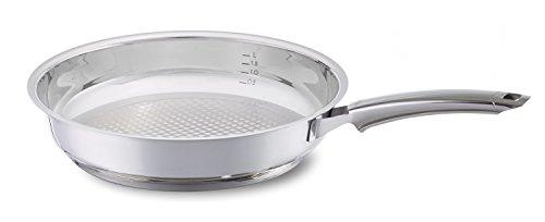 Fissler crispy steelux premium / Edelstahl-Pfanne (Ø 28 cm) Bratpfanne-unbeschichtet, krosses und fettarmes braten - alle Herdarten auch Induktion