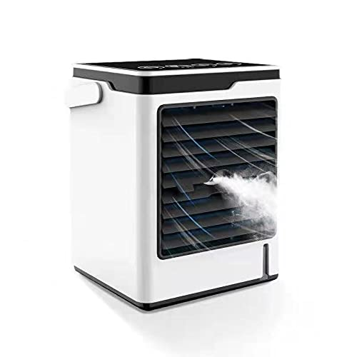 Portable Air Cooler, Mini Air Conditioner Fan Personal Evaporative Cooler with Humidifier Desktop Cooling Fan,3 Speeds Humidifier Misting Fan, 550ml Water Tank Capacity for Home Office Work Outdoor