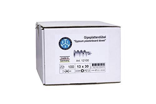 BSH® Gipsplattendübel - Gipskartondübel, Kunststoff oder Metall, 100 St./ Paket (Auswahl: Kunststoff)