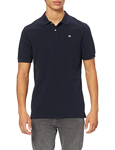 Scotch & Soda Herren Organic Garment Dye Polo Polohemd, Night 0002, XXL