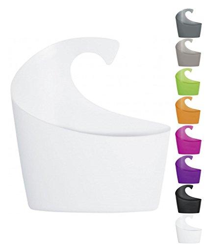 Spirella Duschkorb Sydney mit Haken zum einhängen, kombinierbares Duschregal 30,5 x 27,5 x 10 cm Weiß