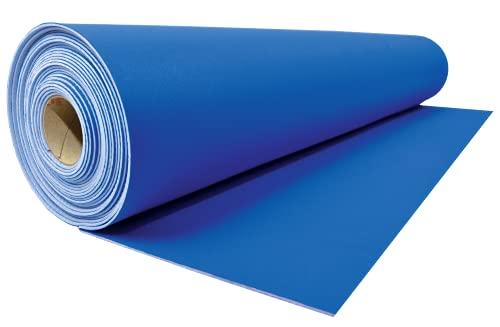 Neo Shield Heavy Duty Reusable Neoprene Runner Temporary Floor Protection, 27 inch x 20 feet (Blue)