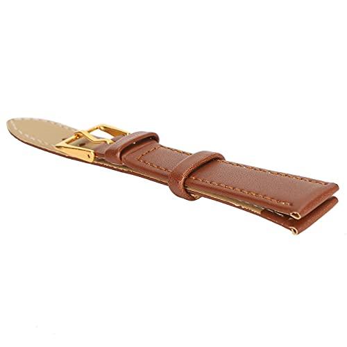 CUEA Bracelet de Montre à Boucle ardillon, Bracelet de Montre Durable Pratique pour Un Usage général pour la Montre de Remplacement pour Un Usage Professionnel(16mm Brown)