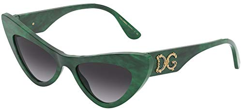 Dolce & Gabbana Gafas de Sol DEVOTION DG 4368 GREEN/GREY SHADED 52/18/145 mujer