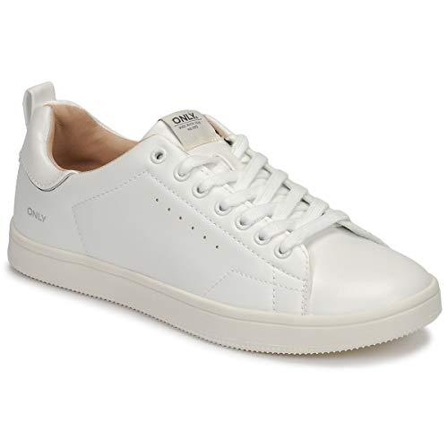 ONLY Damen ONLSHILO PU NOOS Sneaker, White