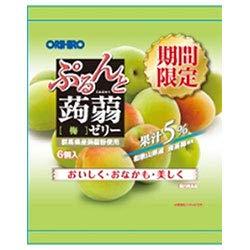 オリヒロ ぷるんと蒟蒻ゼリー 梅 20gパウチ×6個×24袋入×(2ケース)