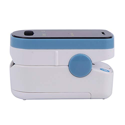 CHOICEMMED Sky Blue Finger Pulse Oximeter - Blood Oxygen Saturation Monitor - SPO2 Pulse Oximeter - Portable Oxygen Sensor with Included Batteries - O2 Saturation Monitor with Carry Pouch