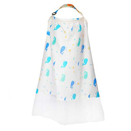Great Price! Privacy Breastfeeding Infants Nursing Cover with Sewn in Burp Full Coverage Nursing Apr...