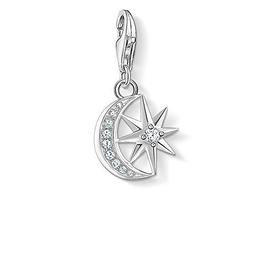 Thomas Sabo Damen-Charm-Anhänger Stern & Mond 925 Sterling Silber 1794-051-14