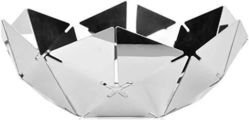 Accessoires voor thuis Zilver Water Cube RVS fruitschaal, Mirror Hollow fruitschaal 29,8 * 11cm.