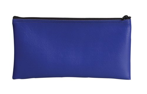 PM Company SecurIT Bank Deposit/Utility Zip per Bag, 11 X 6 Inches, Blue, Count 1 (04620)