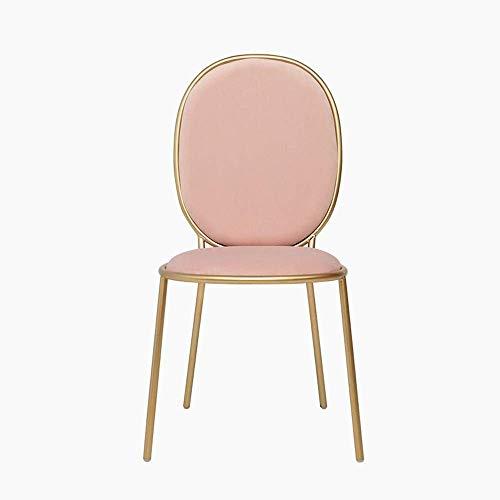 N/Z Tägliche Ausrüstung Esszimmerstühle Nordic Dining Chair Moderner einfacher Make-up-Rückenstuhl European Dressing Nail Chair Esszimmerstühle Küche (Farbe: Pink 1 Größe: 45x45x95cm)