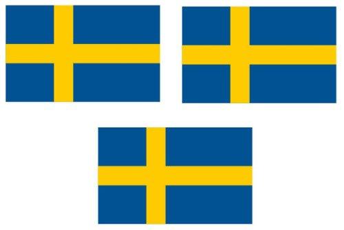 Michael & Rene Pflüger Barmstedt 3 x Mini Premium Aufkleber Fahne von Schweden Sverige Flaggen Sticker Auto Motorrad Fahrrad Bike auch für Dampfer E-Zigarette Sisha