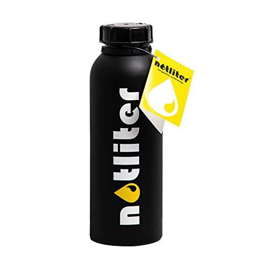 notliter Botella de reserva, color negro mate, 1,25 litros, para gasolina, diésel, agua y más, regalo para permiso de conducir, regalo de 18 cumpleaños, botella de mercancías peligrosas