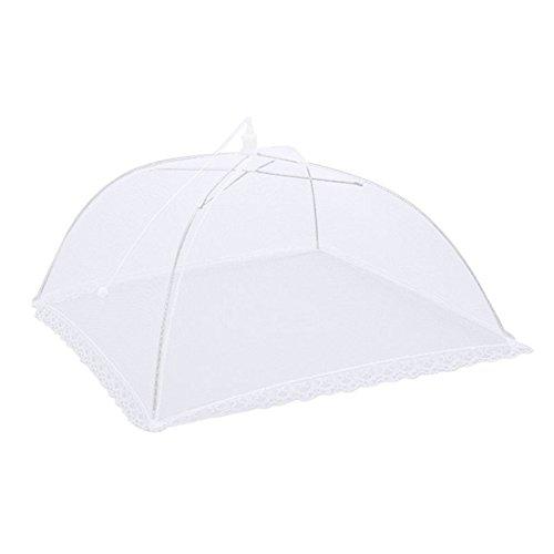 Funnytoday365 17 inch groot wit gaas scherm voedsel dekking paraplu tent inklapbare voedsel beschermer tent houden uit vliegen Bugs muggen