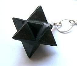 CRYSTALMIRACLE Powerful Black Tourmaline Merkaba Pendulum Crystal Healing Gift Reiki Feng Shui Dowsing Wellness Metaphysical Deflector Luck Protective Health fear