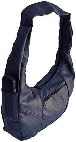 Fin Stores Womens Hobo Bag Genuine Mexican Leather Purse Shoulder Bag Top Zip Bag