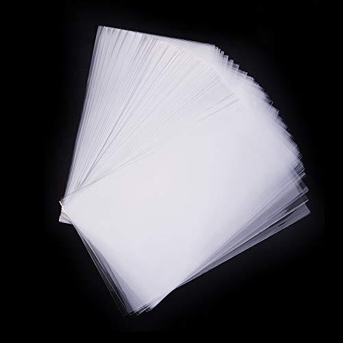 Pandahall Elite 600 Bolsas de celofán de 25 x 15 cm, Transparente, Bolsas para Joyas Galletas Pastelería, Rectángulare, Aprox. 600 Unidades Bolsa