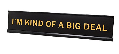 I'm Kind of A Big Deal 2'x10' Novelty Nameplate Desk Sign