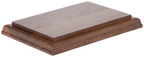 Plymor Solid Walnut Rectangular Wood Display Base with Ogee Edge, 0.75