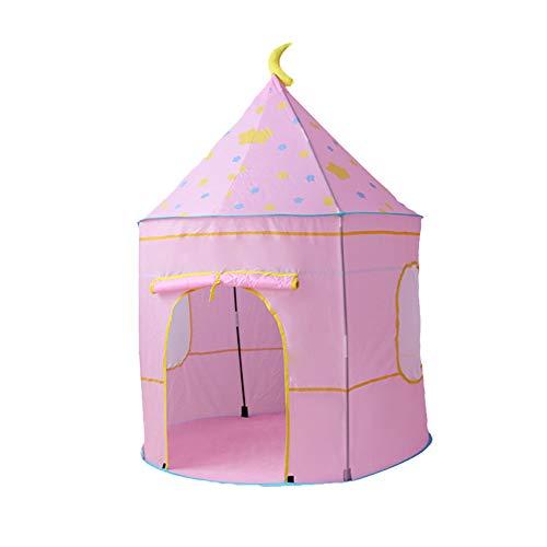 Tipi Tienda De Campaña para Niños Casa De Juguete Niño Niña con Bolsa De Almacenamiento Decoración De Dormitorio con Diseño De Cortina Castillo Tela Oxford + Varilla De Fibra De Vidrio (2# Rosado)