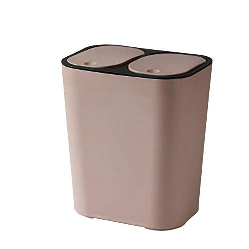 Klassifizierung Garbage Can Can Trash fictile Müll Müllaufbewahrungsbehälter-Behälter Weiß Bento Lunch Box for Kinder (Farbe: Hellbraun) 1yess (Color : Light Brown)