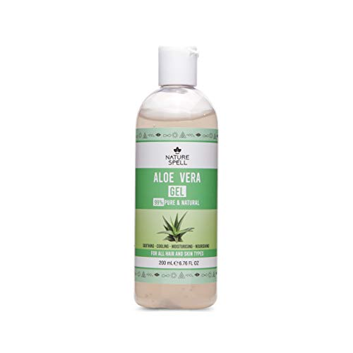 Nature Spell Aloe Vera Gel 99% Pure 200ml – Soothing & Hydrating - For All Hair & Skin Types - Made In The UK, 100% Vegan