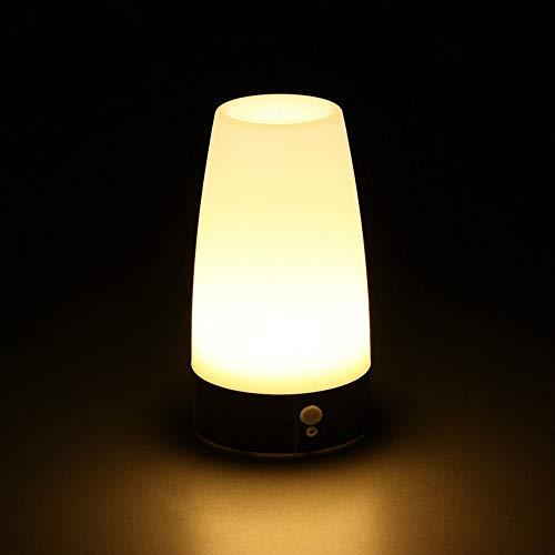Luz nocturna nocturna nocturna de luz nocturna inalámbrica con sensor de movimiento retro