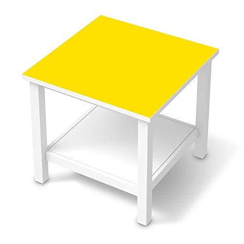 creatisto Möbel-Folie passend für IKEA Hemnes Beistelltisch 55x55 cm I Möbelfolie - Möbel-Tattoo Sticker Aufkleber I Deko Ideen Wohnung für Esszimmer und Wohnzimmer - Design: Gelb Dark