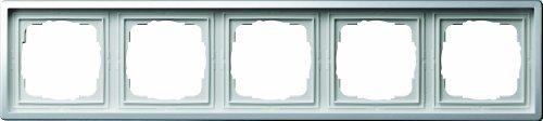 Gira 0215115 Abdeckrahmen 5-Fach Flächenschalter Chrom